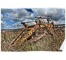Old Farming Equipment Poster
