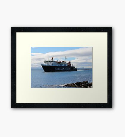 MV Lord of the Isles Arriving at Tiree Framed Print
