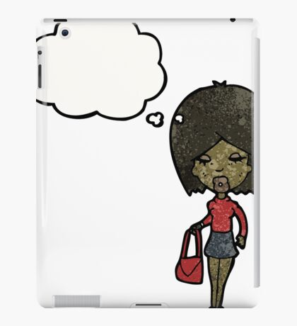 cartoon woman with idea iPad Case/Skin