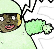 cartoon man in radiation suit Sticker