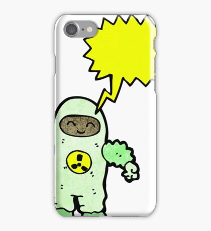 cartoon man in radiation suit iPhone Case/Skin