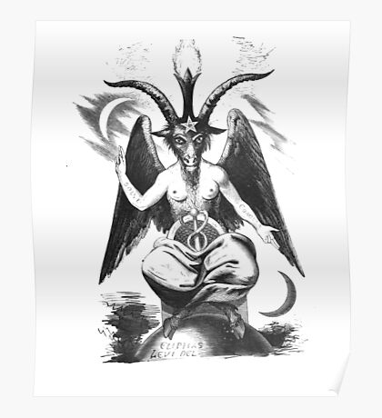 Baphomet - Eliphas Levi Goat Occult Poster