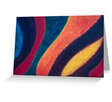 Fluid Abstraction Greeting Card