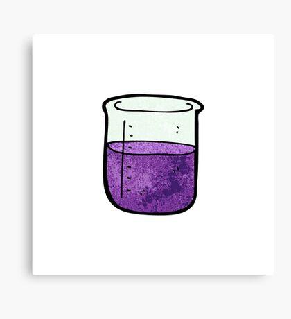 science beaker cartoon Canvas Print