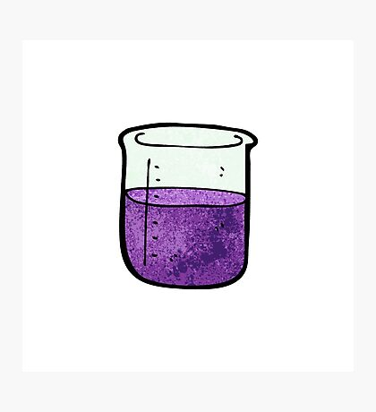 science beaker cartoon Photographic Print