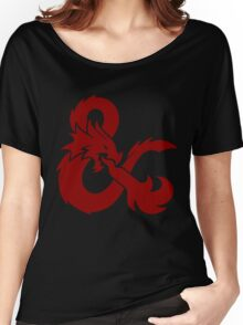 DnD logo (Red) Women's Relaxed Fit T-Shirt