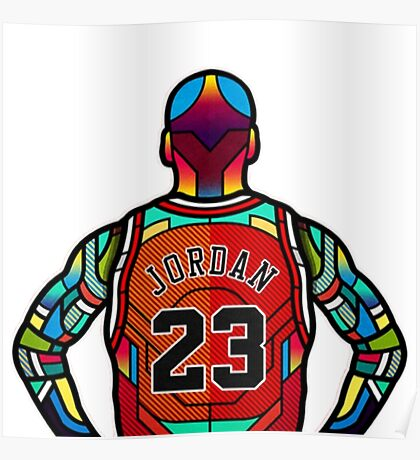 Michael Jordan - '23' Bulls Stained Glass Art Poster