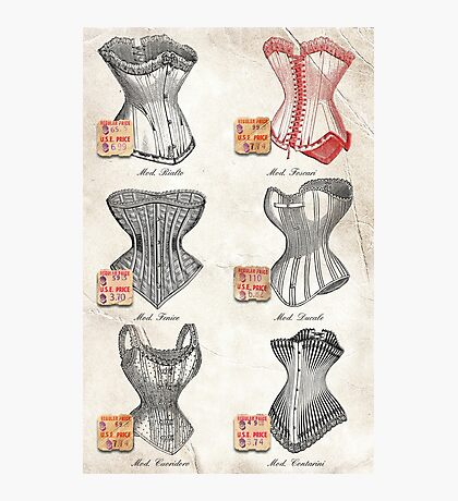 The Red Corset Photographic Print