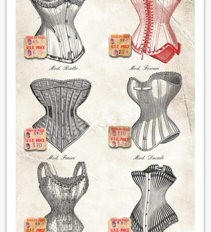 The Red Corset Sticker