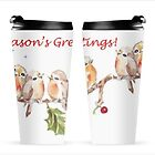 6 Little birds Season's Greetings Travel mug by Maree  Clarkson