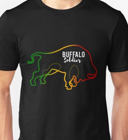 Buffalo Soldier Rasta Reggae Jamaica Roots Ethiopia Warrior Unisex T-Shirt