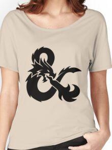 DnD logo (Black) Women's Relaxed Fit T-Shirt