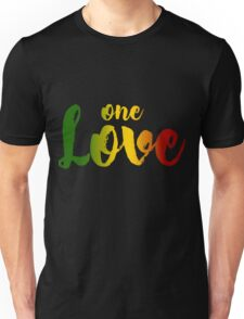 One Love Music Rasta Reggae Peace Roots Rastafari Gift Unisex T-Shirt