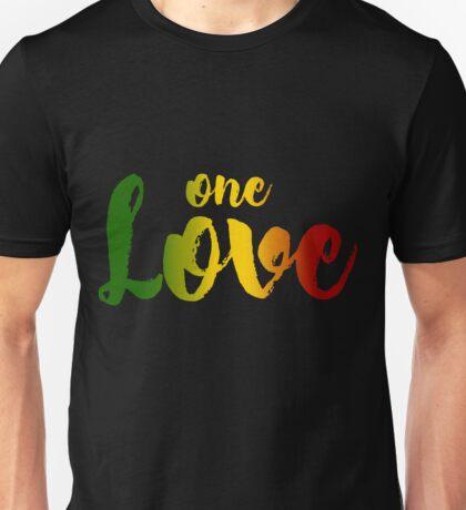 One Love Music Rasta Reggae Peace Roots Rastafari Gift Unisex T-Shirt