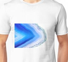 Super macro of blue agate mineral Unisex T-Shirt