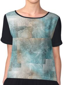 Mosaic in Turquoise Needles Chiffon Top