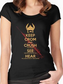 KEEP BLOODY CROM Women's Fitted Scoop T-Shirt