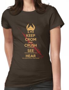 KEEP BLOODY CROM Womens Fitted T-Shirt