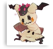 Pokemon: Pyukumuku and Mimikyu Canvas Print