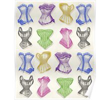 Vintage-inspired Silk Corsets Poster