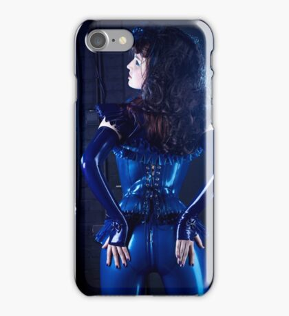 Blue latex corset 02 iPhone Case/Skin
