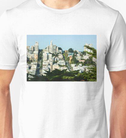 San Francisco Lombard Street Vista Unisex T-Shirt