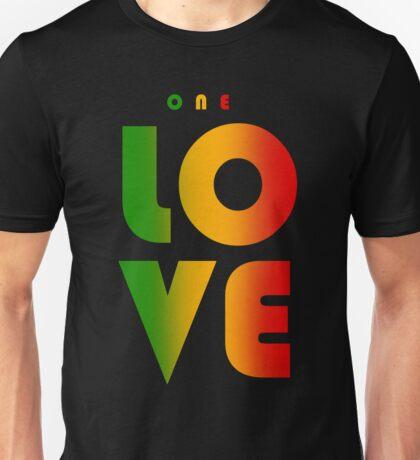 One Love Rasta Reggae Design Heart Peace Music Roots Unisex T-Shirt