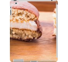 Macro view of the chocolate cookies with a layer of milk souffle iPad Case/Skin