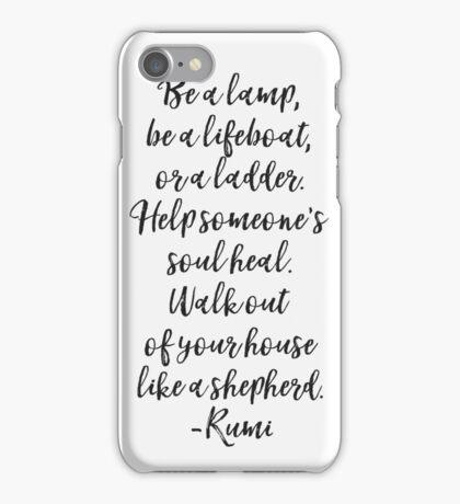 Rumi quote original iPhone Case/Skin