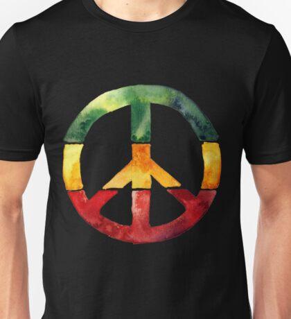 Peace Sign Rasta Reggae No War Design Rastafari Gift Unisex T-Shirt