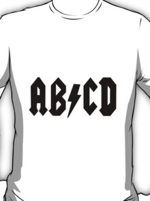AB/CD Black T-Shirt