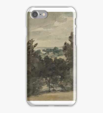 John Constable    View towards Stratford St Mary Church iPhone Case/Skin