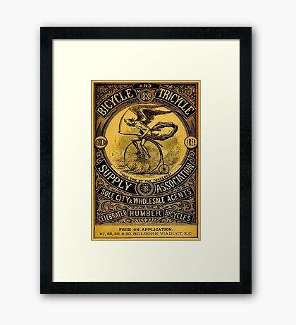 HUMBER BICYCLES; Vintage Advertising Print Framed Print