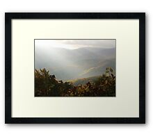 Late Afternoon In The Smokies Framed Print