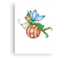 Red Ornament Christmas Faerie Canvas Print