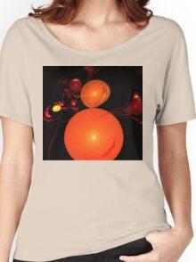 Cherry Orange Swirls Women's Relaxed Fit T-Shirt