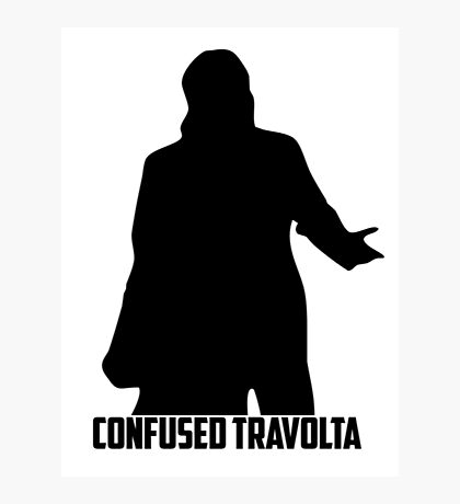 Confused Travolta Photographic Print