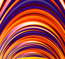 Color and Form Abstract - Solar Gravity and Magnetism 4 Sticker