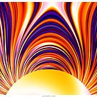 Color and Form Abstract - Solar Gravity and Magnetism 4 by Leah McNeir