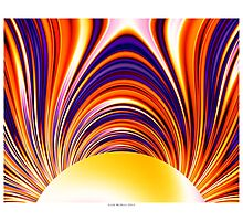 Color and Form Abstract - Solar Gravity and Magnetism 4 Photographic Print