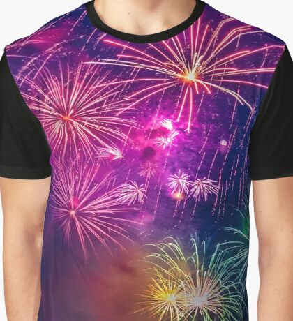 Celebration time with fireworks  Graphic T-Shirt