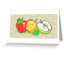 Apples retro art set Greeting Card