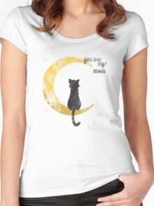 My Moon Women's Fitted Scoop T-Shirt