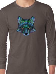 Psychedelic Fox Spirit Totem Guide Sacred Shaman Long Sleeve T-Shirt