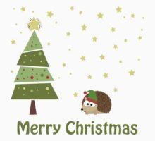 Cute hedgehog Christmas Scene Kids Clothes