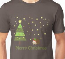 Cute hedgehog Christmas Scene Unisex T-Shirt
