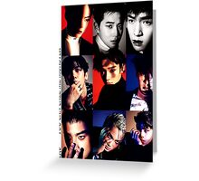 Kpop band EXO monster poster Greeting Card