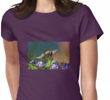 Male Anna's Hummingbird In Flight Womens Fitted T-Shirt