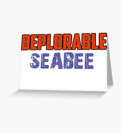deplorable seabee Greeting Card