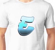 Letter E - Blue Fade Unisex T-Shirt